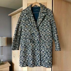 Zara double breasted textured coat